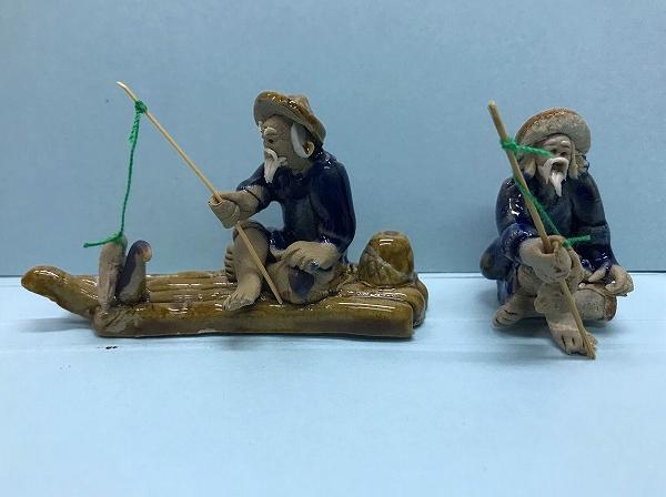 アクアアクセサリー(いかだに乗った釣りおじさん、釣りおじさん)